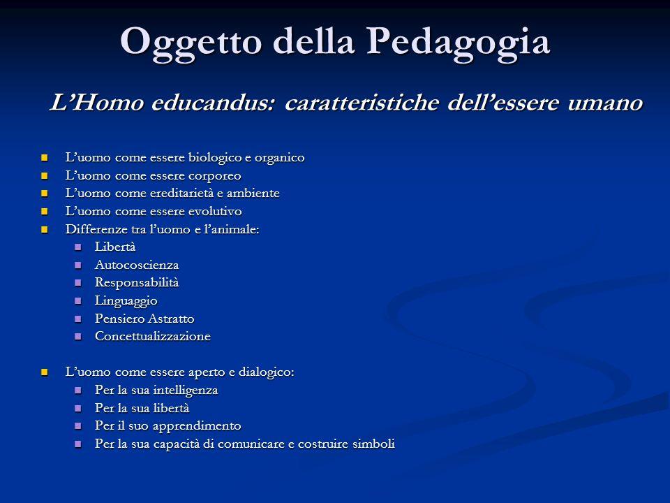 Oggetto della Pedagogia