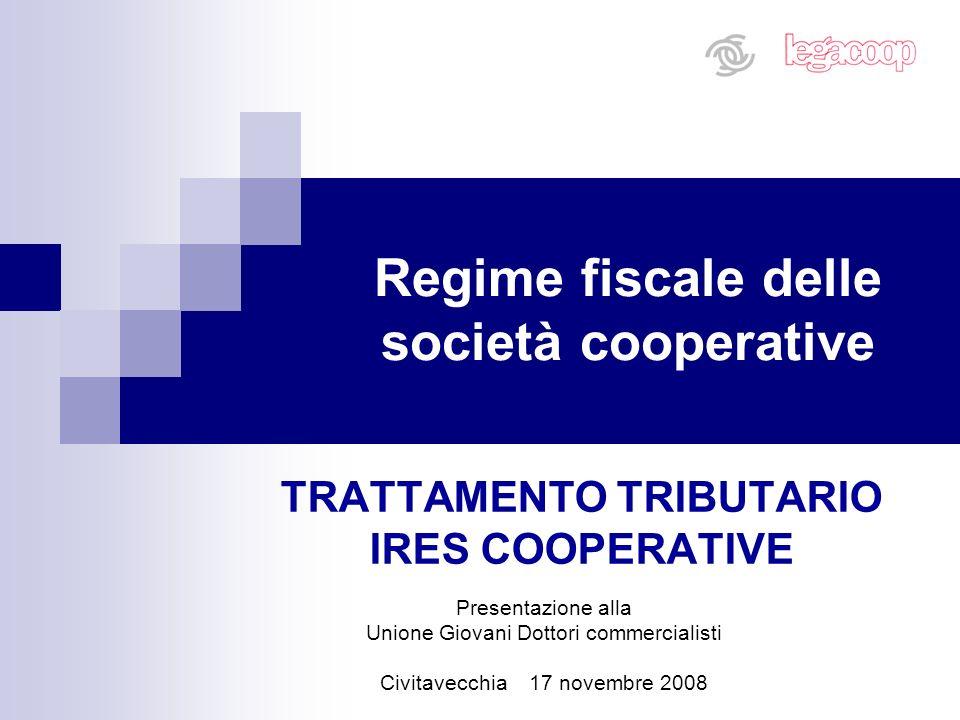 Regime fiscale delle società cooperative
