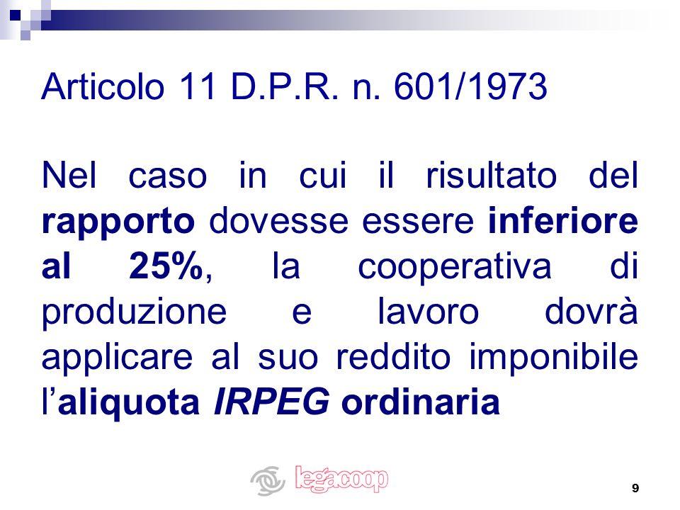 Articolo 11 D.P.R. n. 601/1973