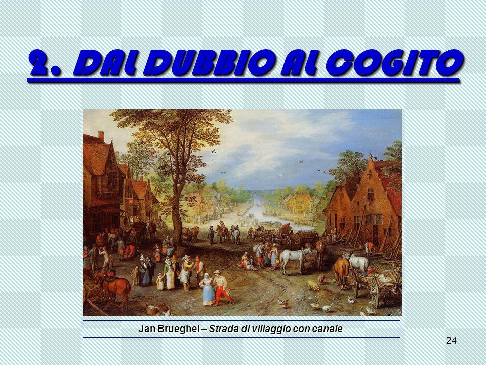 Jan Brueghel – Strada di villaggio con canale