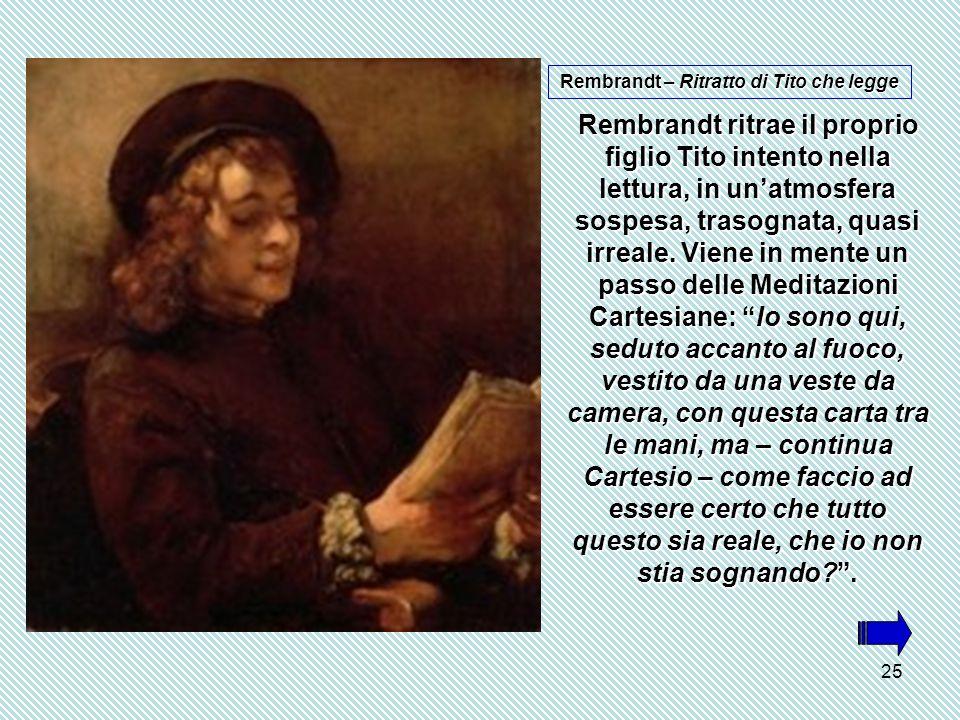 Rembrandt – Ritratto di Tito che legge