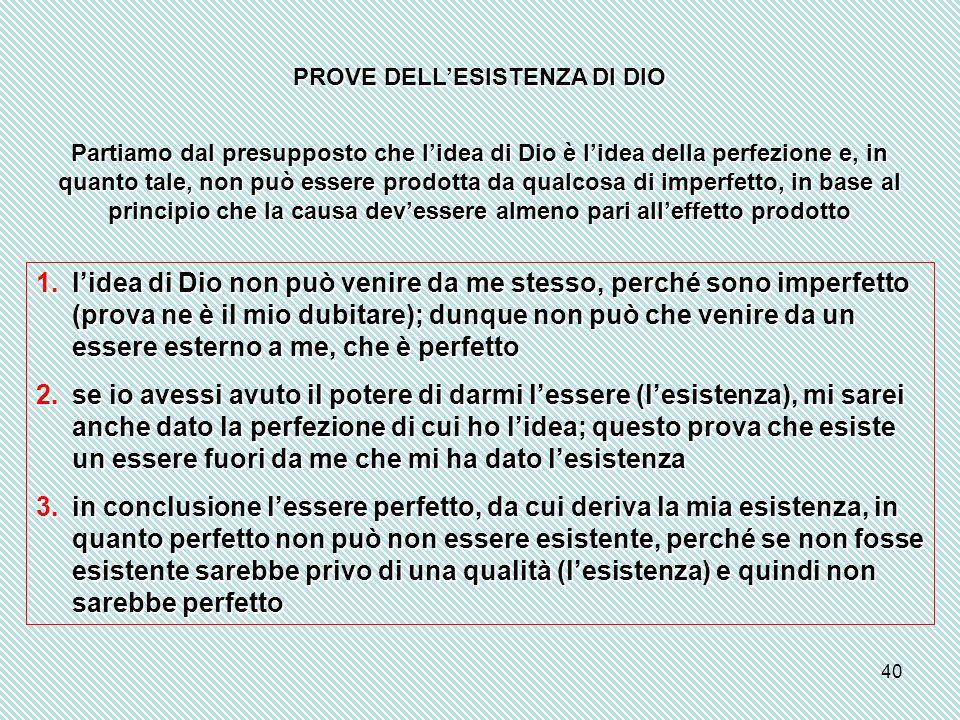 PROVE DELL'ESISTENZA DI DIO