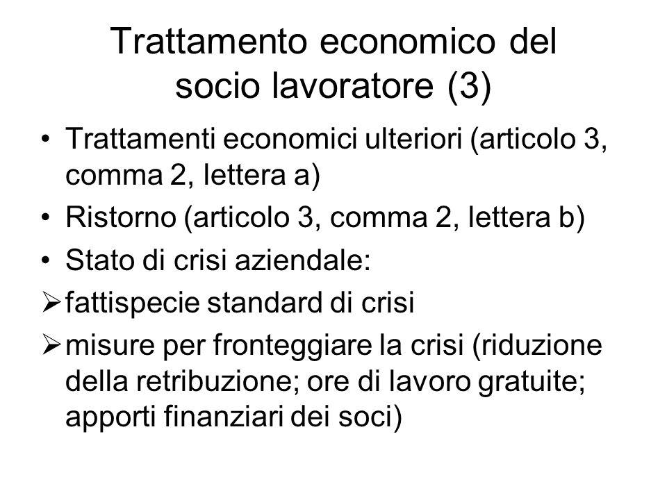 Trattamento economico del socio lavoratore (3)