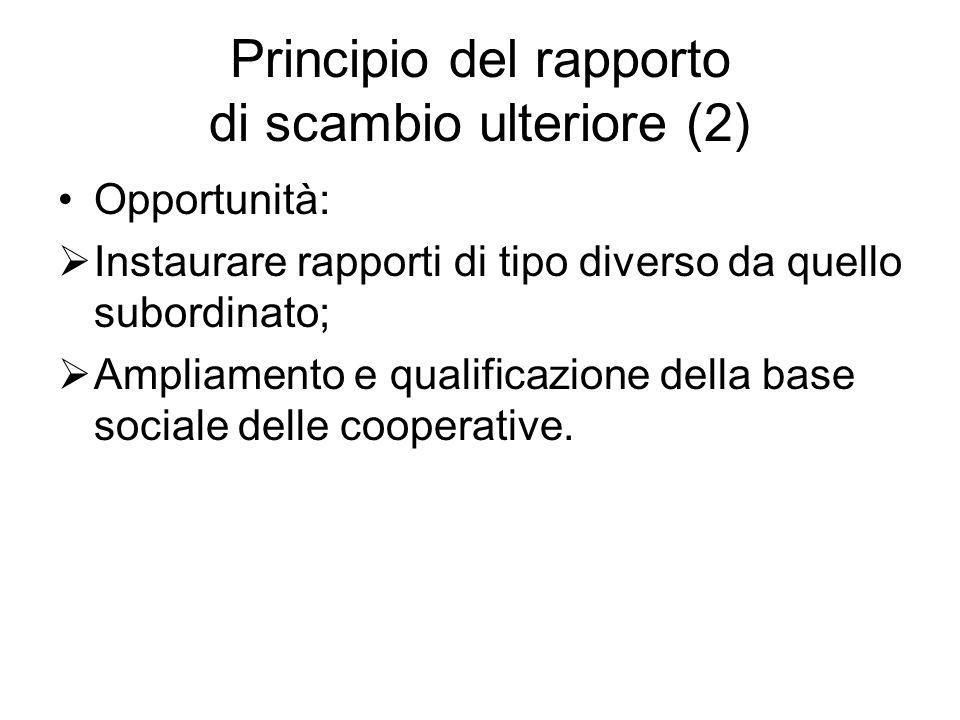 Principio del rapporto di scambio ulteriore (2)