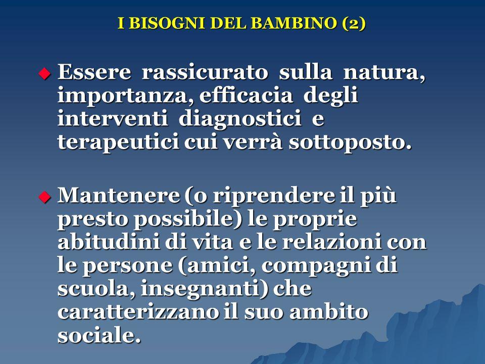 I BISOGNI DEL BAMBINO (2)