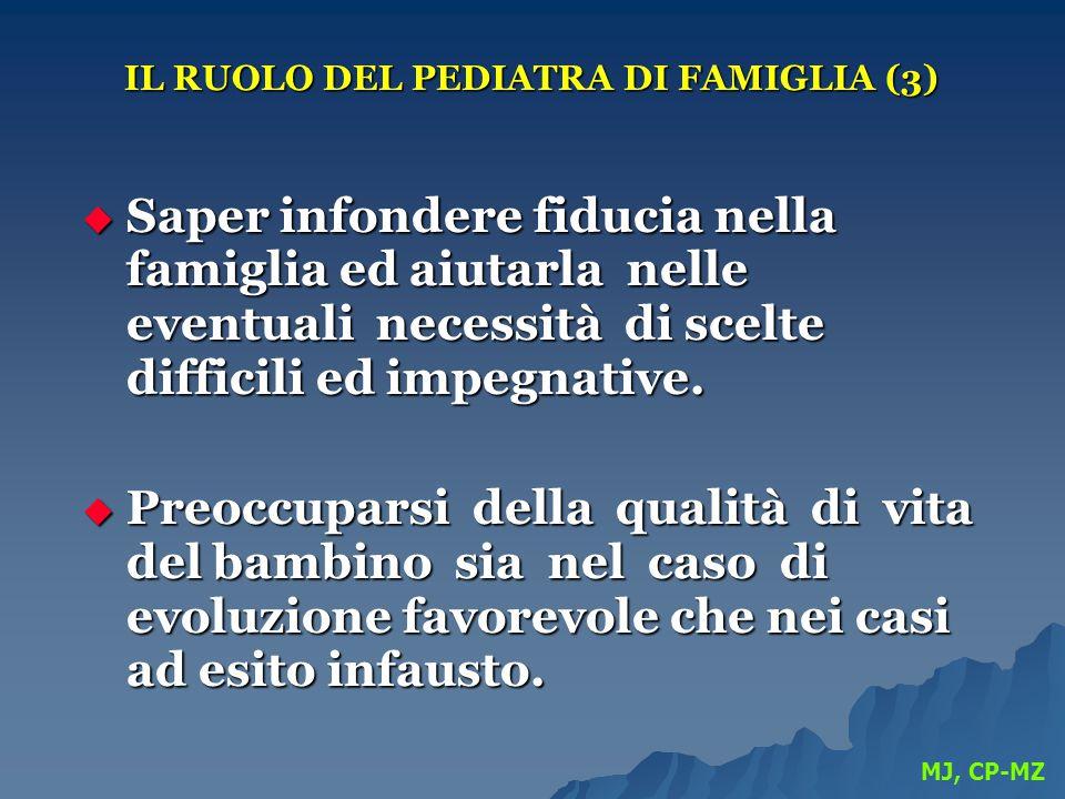 IL RUOLO DEL PEDIATRA DI FAMIGLIA (3)