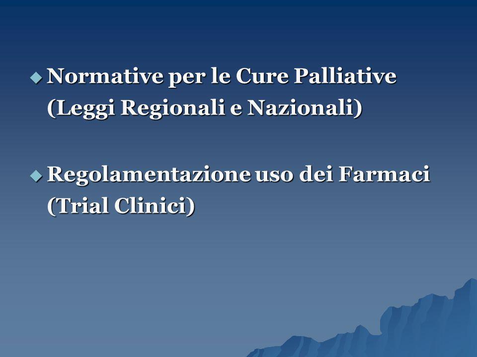 Normative per le Cure Palliative (Leggi Regionali e Nazionali)