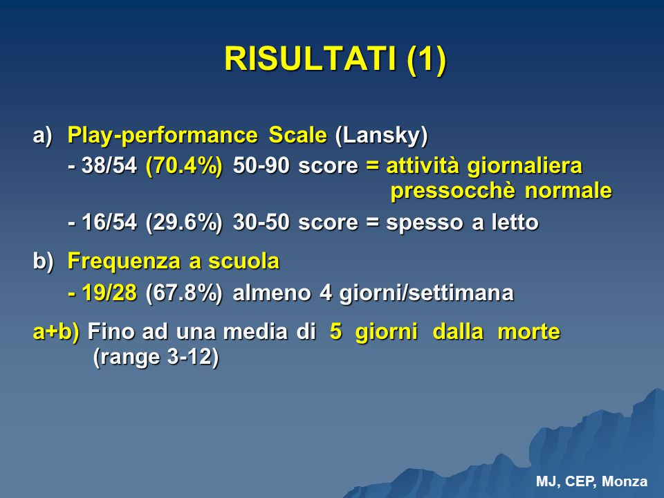 a) Play-performance Scale (Lansky)