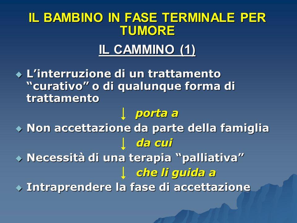 IL BAMBINO IN FASE TERMINALE PER TUMORE IL CAMMINO (1)