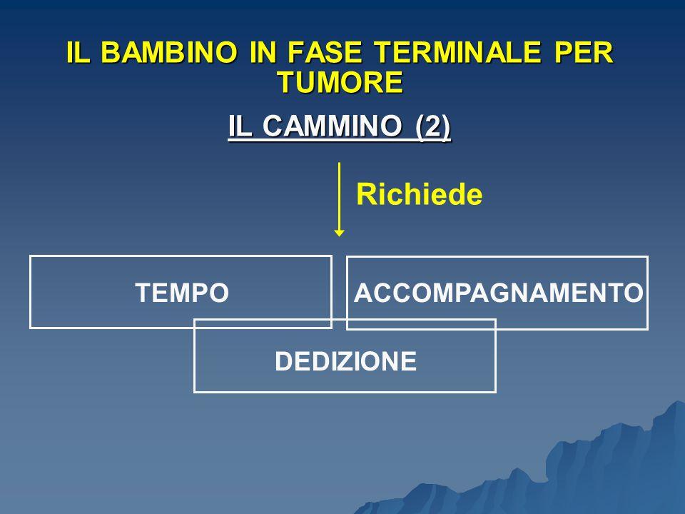IL BAMBINO IN FASE TERMINALE PER TUMORE IL CAMMINO (2)