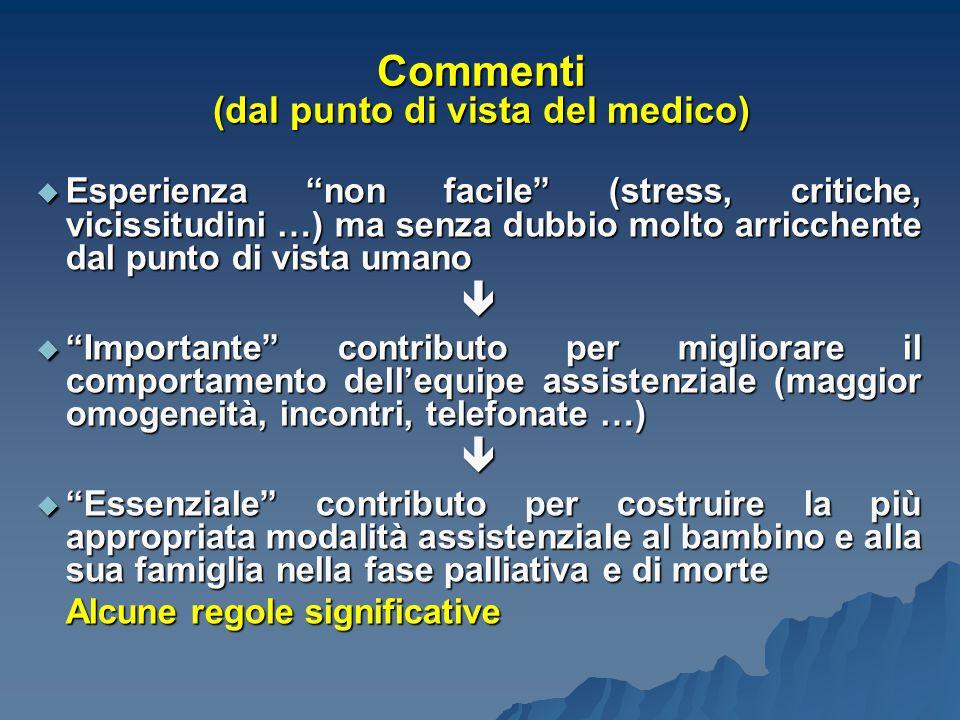 Commenti (dal punto di vista del medico)