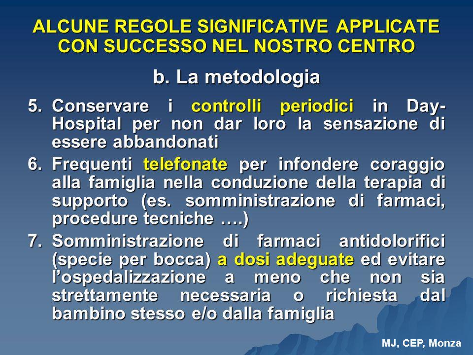 ALCUNE REGOLE SIGNIFICATIVE APPLICATE CON SUCCESSO NEL NOSTRO CENTRO b