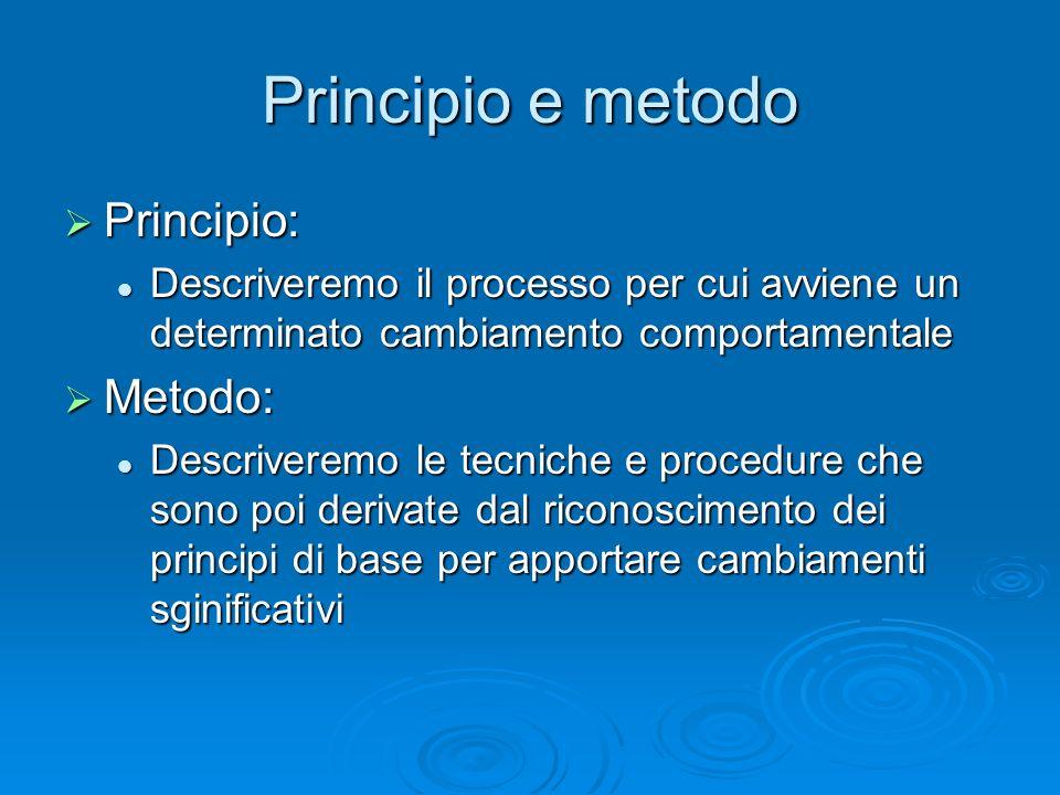 Principio e metodo Principio: Metodo: