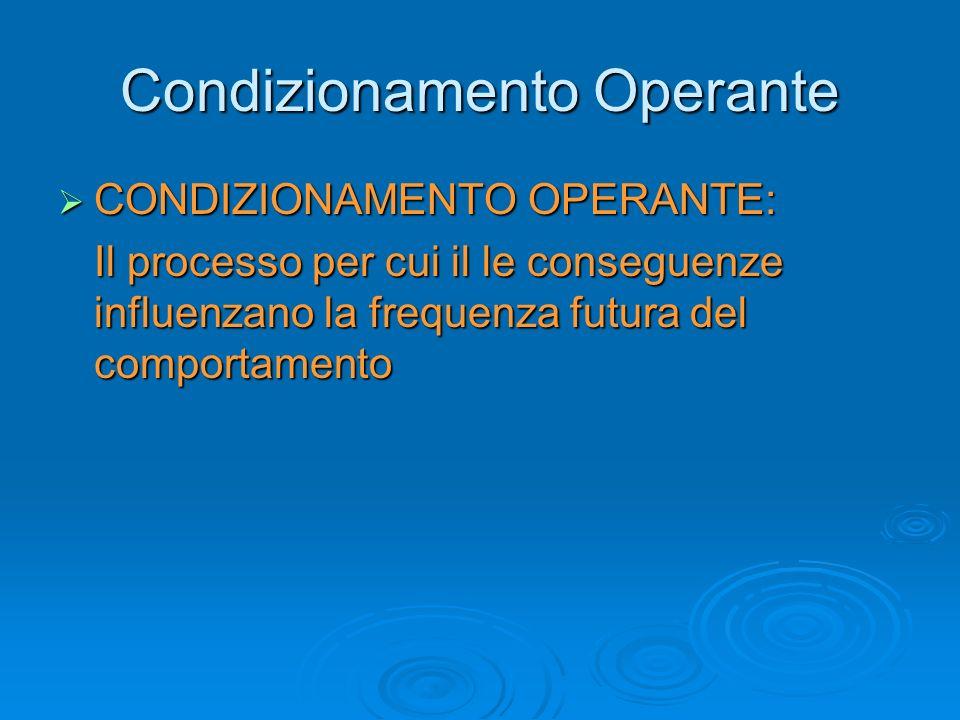 Condizionamento Operante