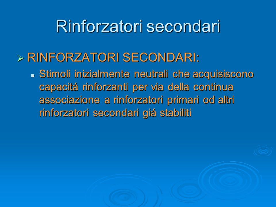 Rinforzatori secondari