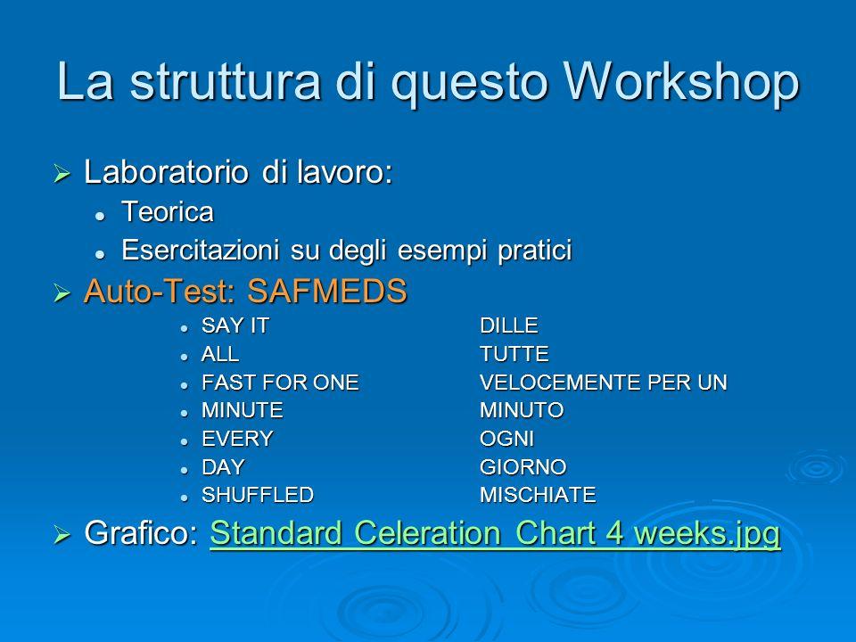 La struttura di questo Workshop
