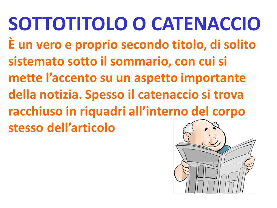 SOTTOTITOLO O CATENACCIO