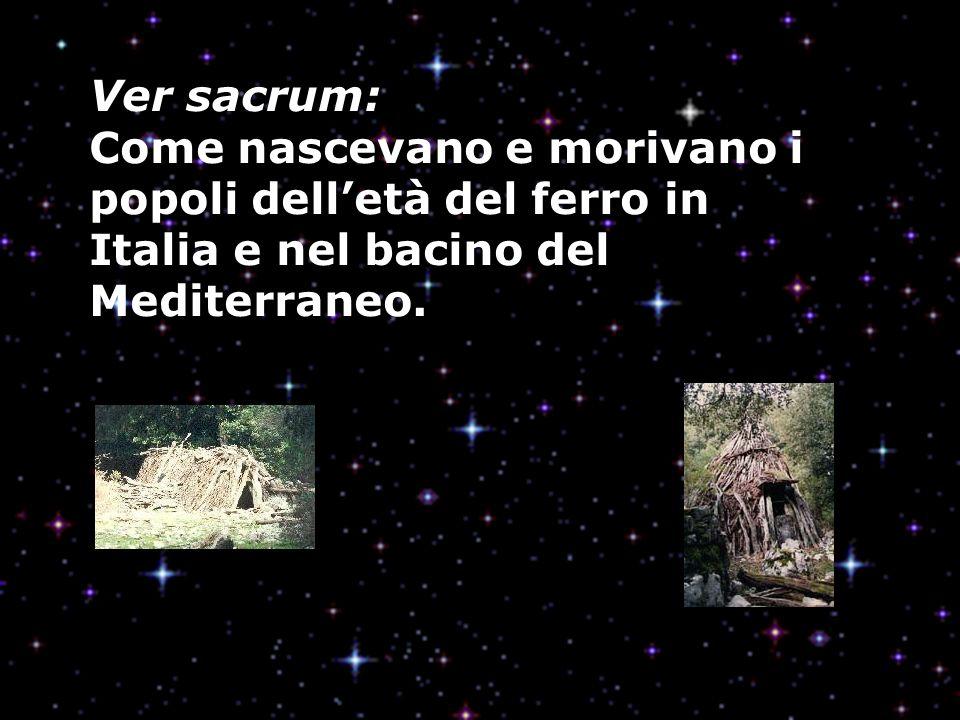 Ver sacrum: Come nascevano e morivano i popoli dell'età del ferro in Italia e nel bacino del Mediterraneo.