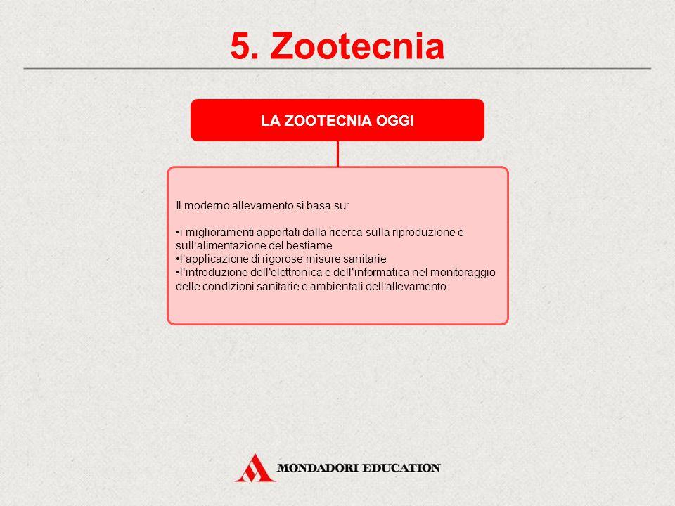5. Zootecnia LA ZOOTECNIA OGGI * Il moderno allevamento si basa su: