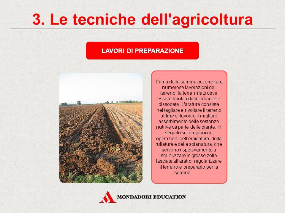 3. Le tecniche dell agricoltura LAVORI DI PREPARAZIONE
