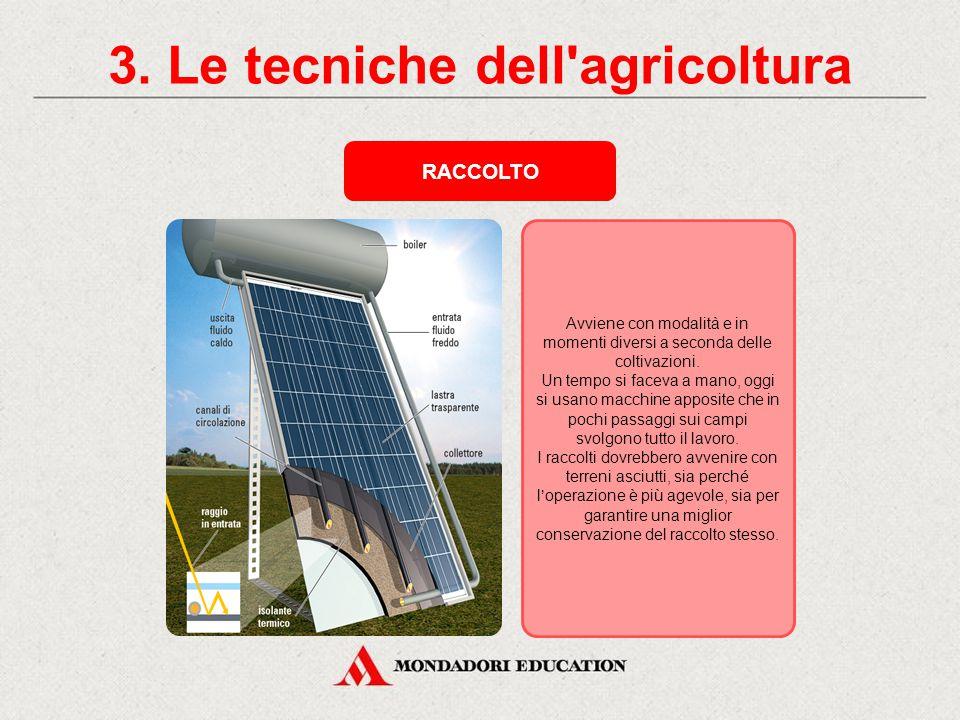 3. Le tecniche dell agricoltura