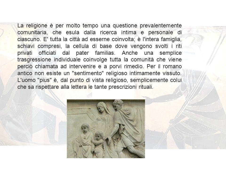 La religione è per molto tempo una questione prevalentemente comunitaria, che esula dalla ricerca intima e personale di ciascuno.