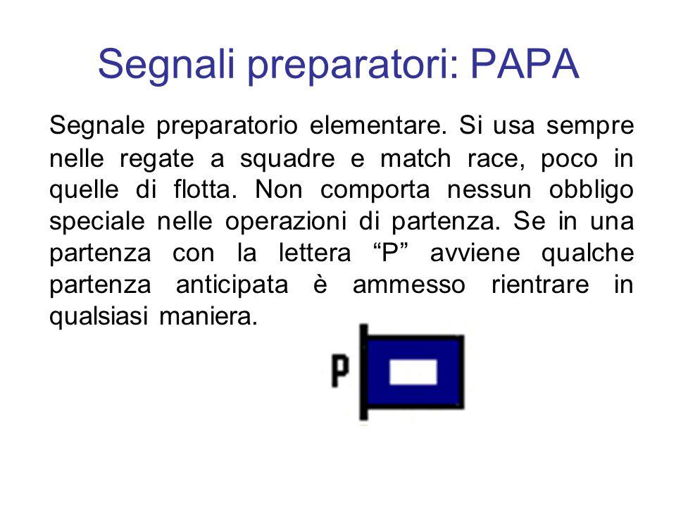 Segnali preparatori: PAPA