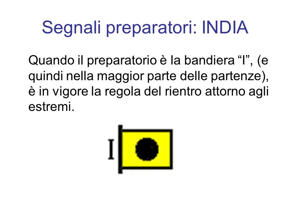 Segnali preparatori: INDIA