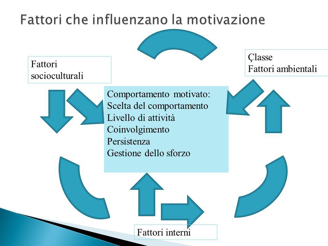 Fattori che influenzano la motivazione