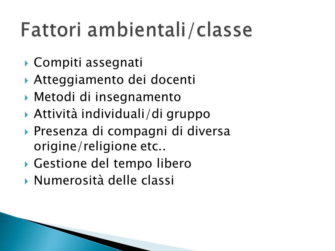 Fattori ambientali/classe