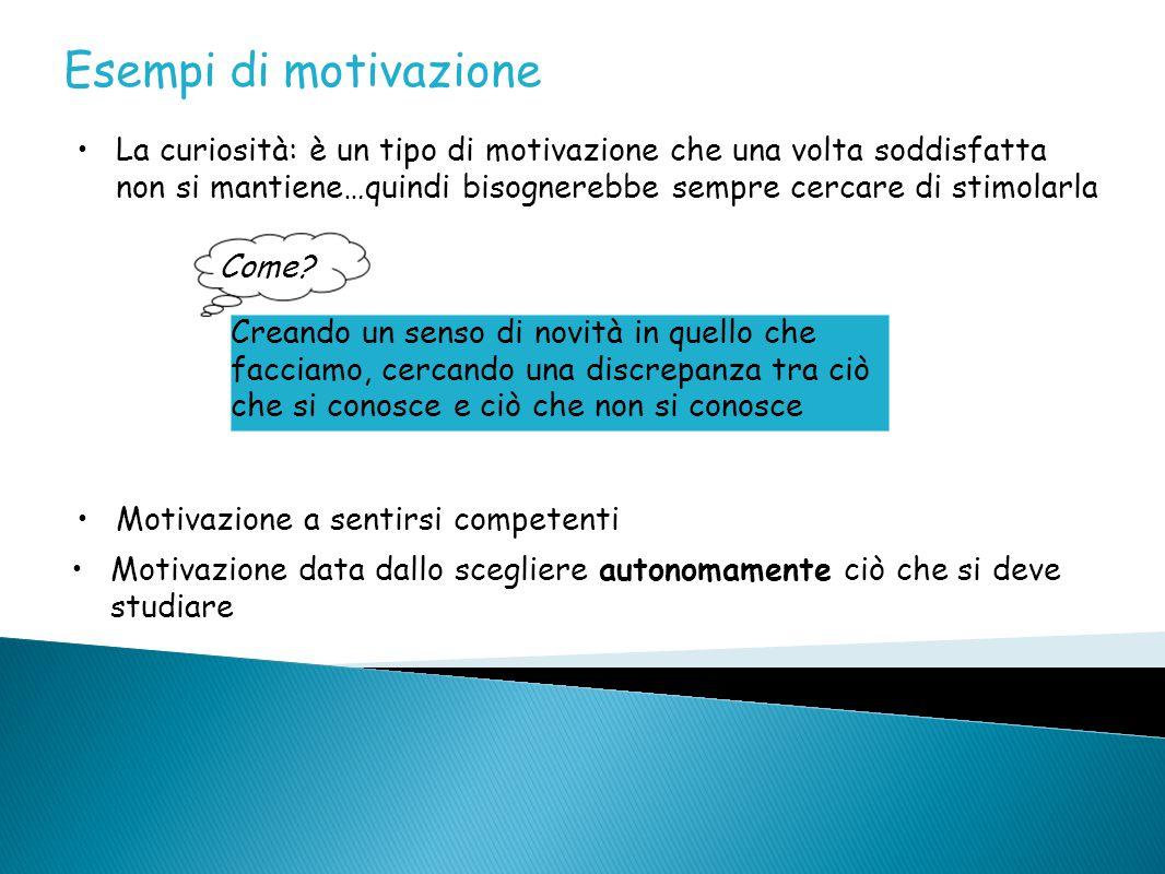 Esempi di motivazione