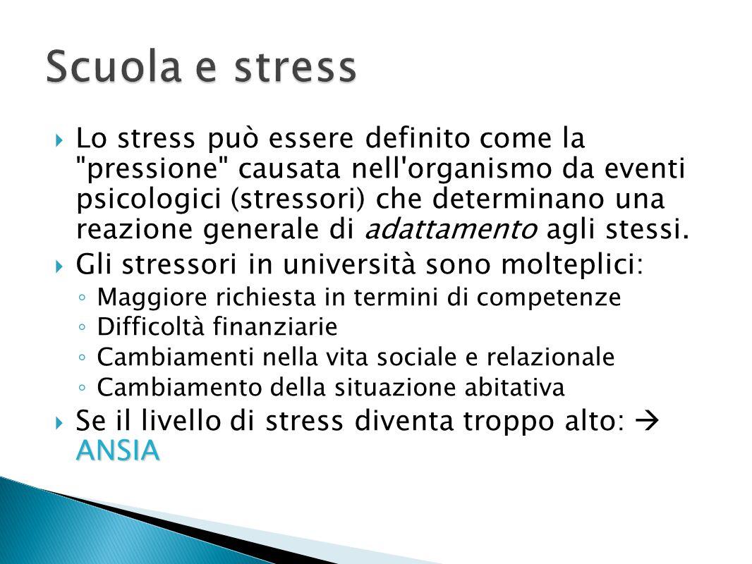 Scuola e stress