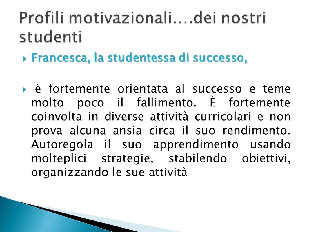 Profili motivazionali….dei nostri studenti