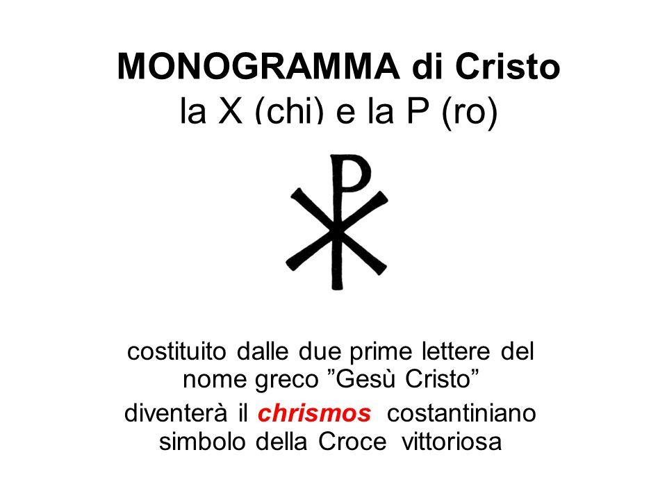 MONOGRAMMA di Cristo la X (chi) e la P (ro)