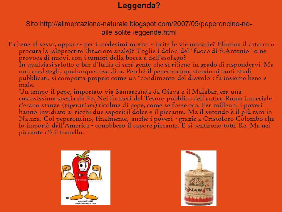 Leggenda. Sito:http://alimentazione-naturale. blogspot