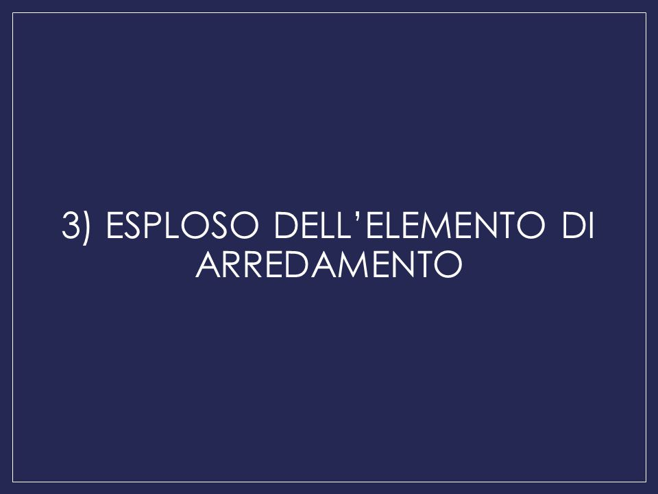 3) ESPLOSO DELL'ELEMENTO DI ARREDAMENTO