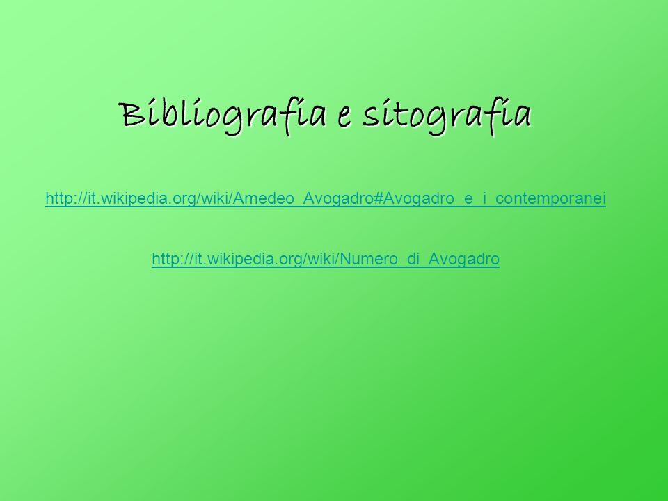Bibliografia e sitografia http://it. wikipedia