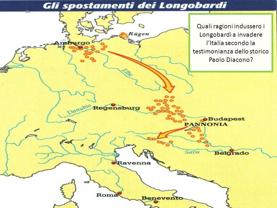 Quali ragioni indussero i Longobardi a invadere l'Italia secondo la testimonianza dello storico Paolo Diacono