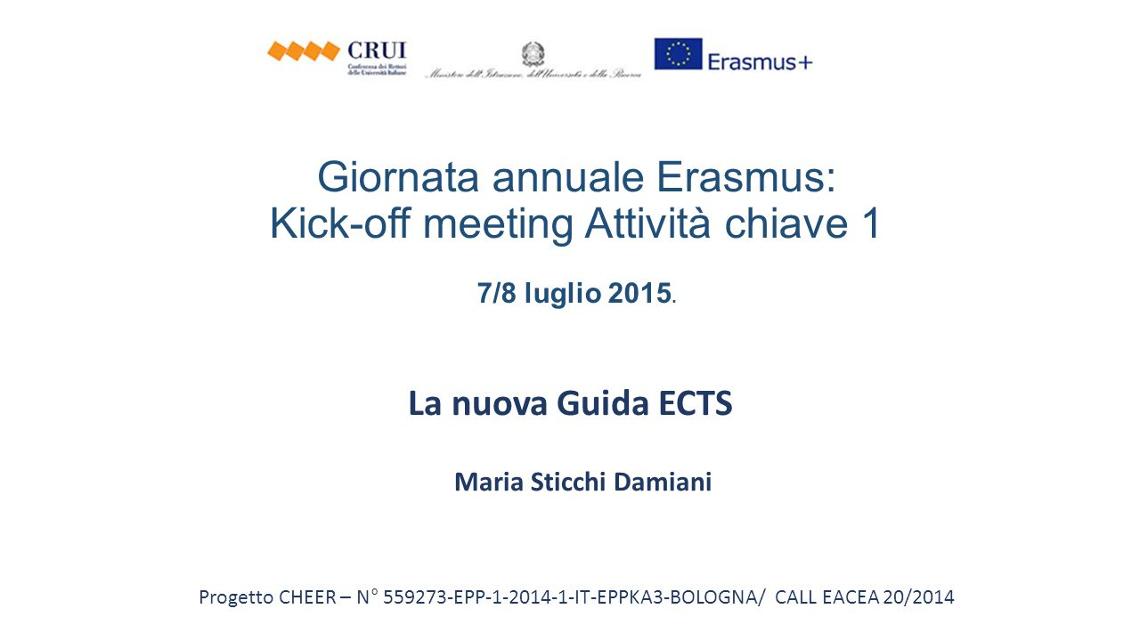 La nuova Guida ECTS Maria Sticchi Damiani
