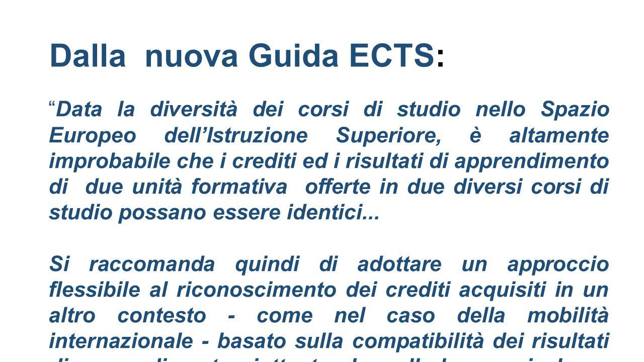 Dalla nuova Guida ECTS: