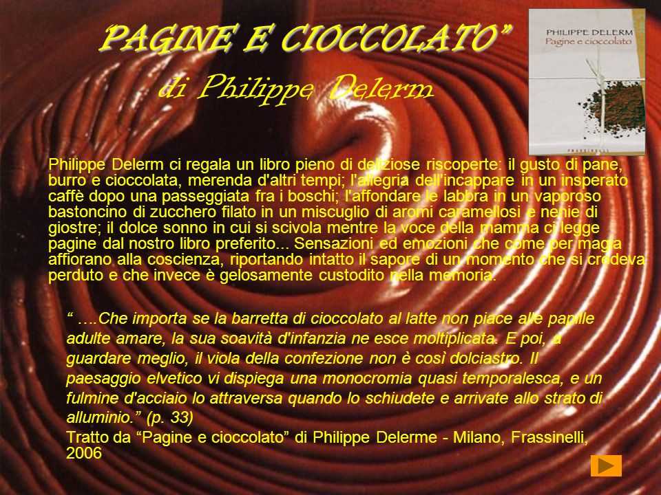 PAGINE E CIOCCOLATO di Philippe Delerm