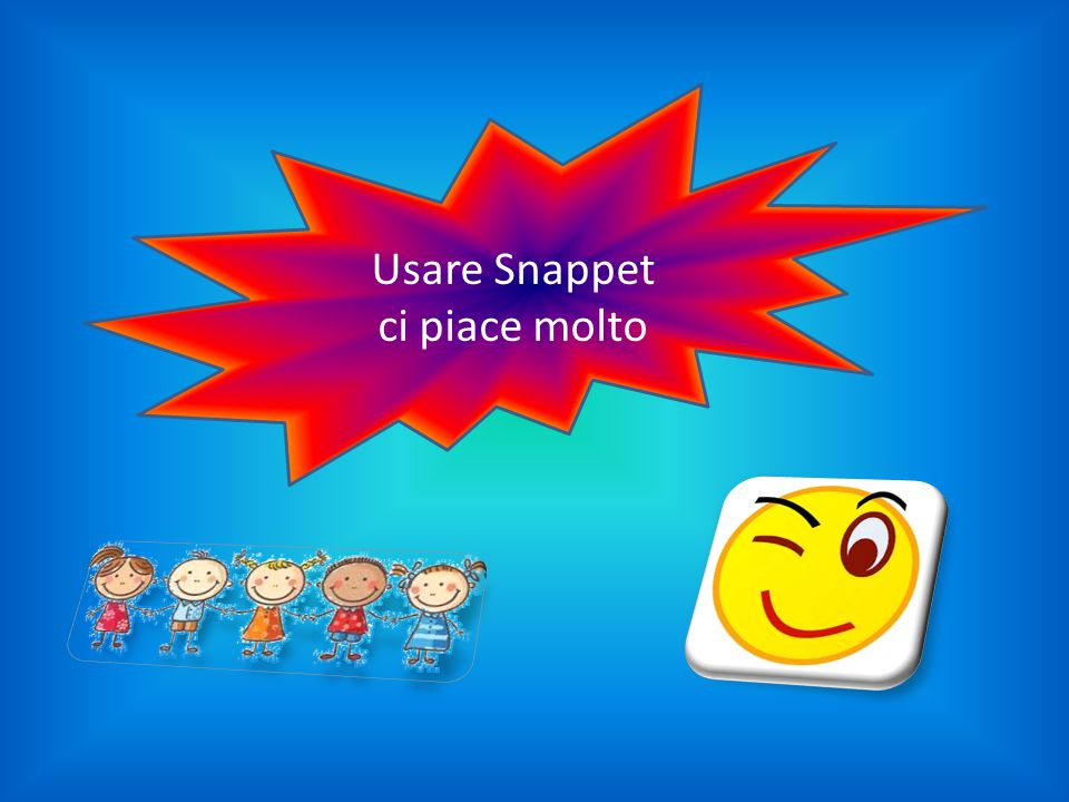Usare Snappet ci piace molto
