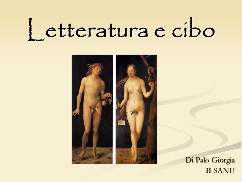 Letteratura e cibo Di Palo Giorgia II SANU