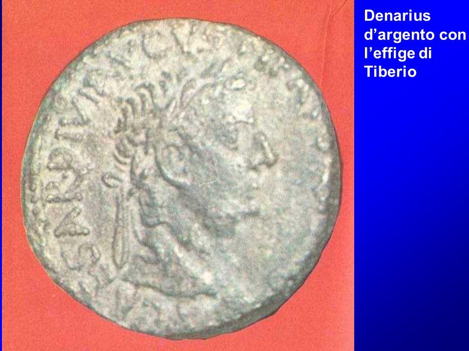 Denarius d'argento con l'effige di Tiberio