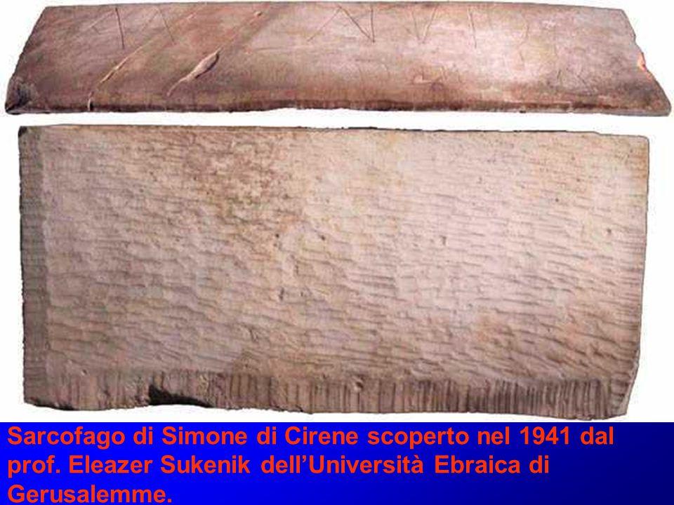 Sarcofago di Simone di Cirene scoperto nel 1941 dal prof