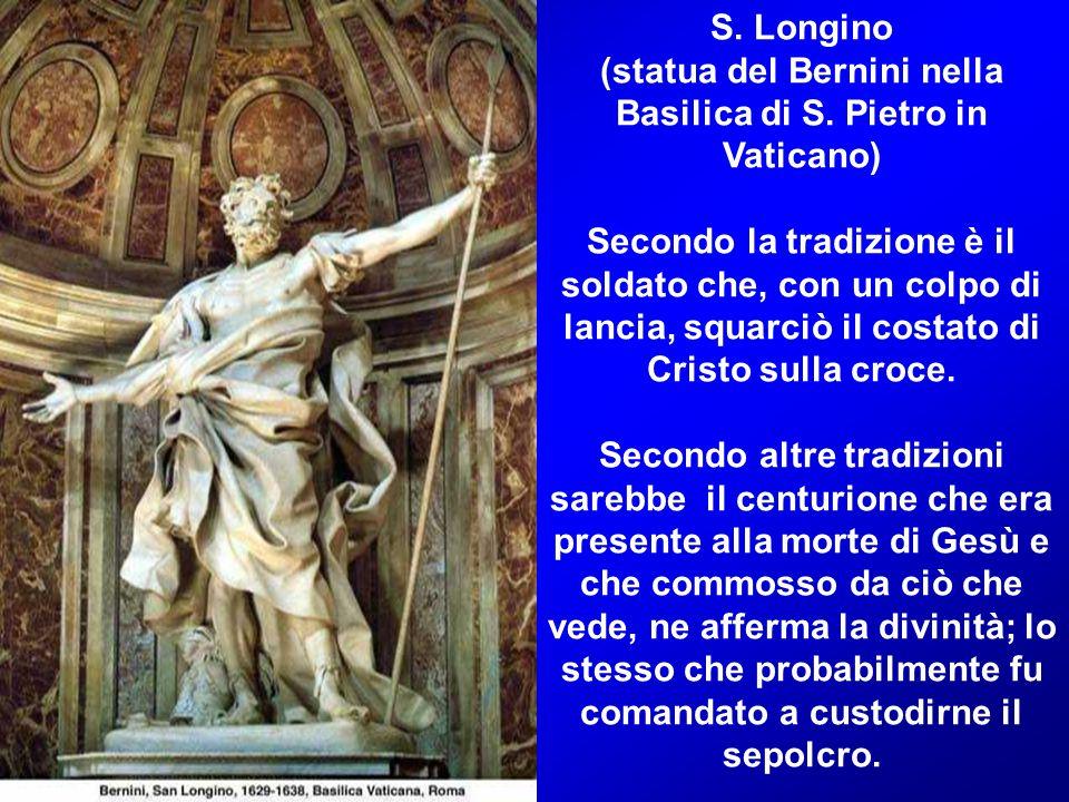 (statua del Bernini nella Basilica di S. Pietro in Vaticano)