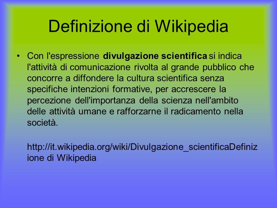 Definizione di Wikipedia