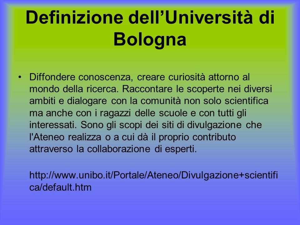 Definizione dell'Università di Bologna