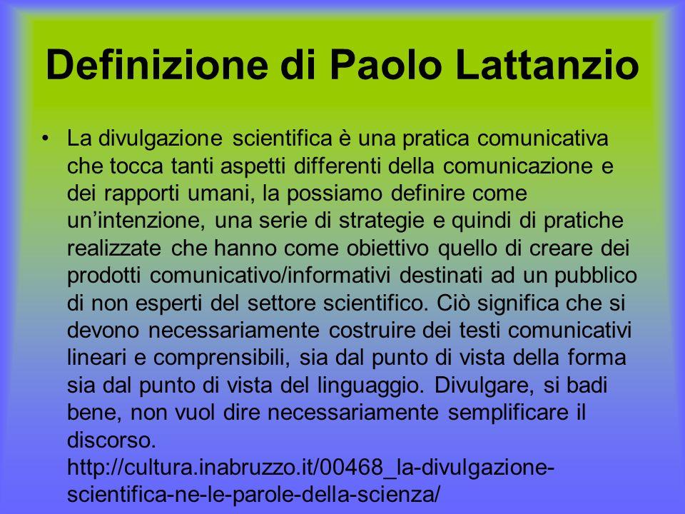 Definizione di Paolo Lattanzio