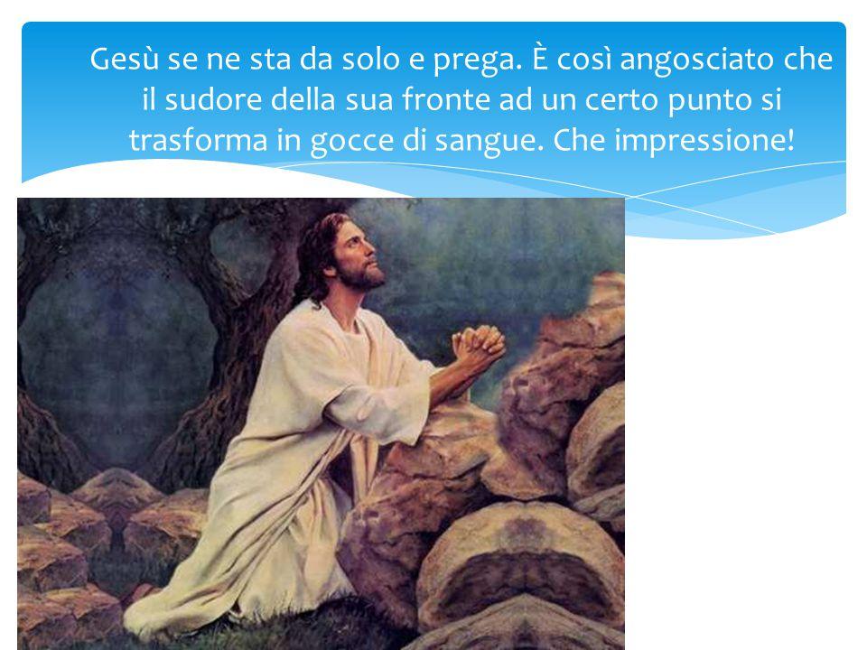 Gesù se ne sta da solo e prega